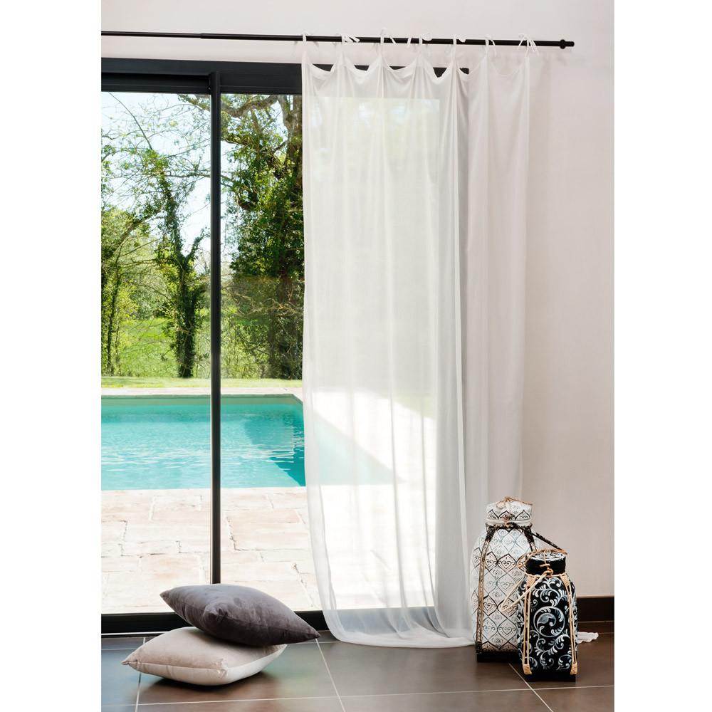 rideau mousseline blanc maisons du monde. Black Bedroom Furniture Sets. Home Design Ideas