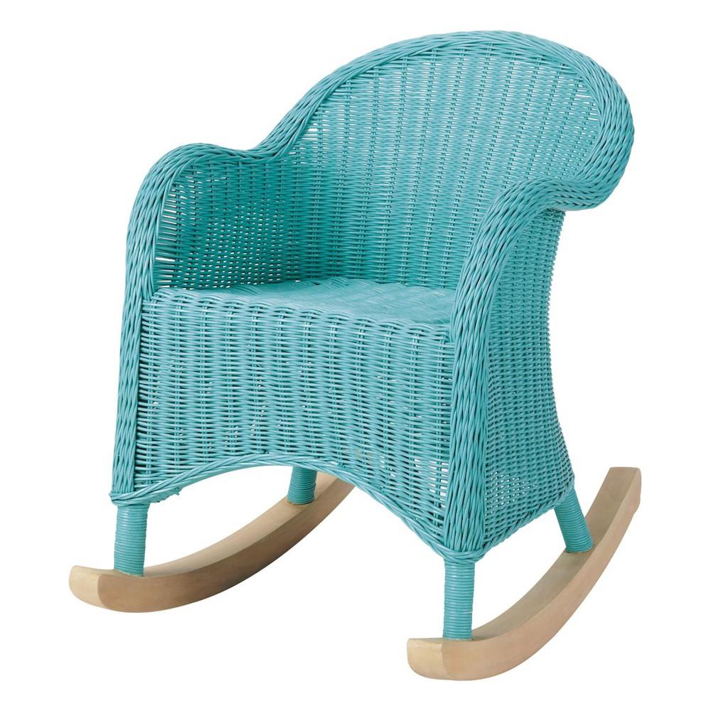 Rocking chair enfant bleu oc an maisons du monde - Maison du monde rocking chair ...