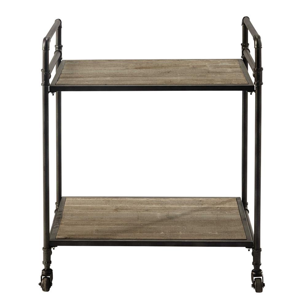 rollwagen aus metall und holz b 64 cm maisons du monde. Black Bedroom Furniture Sets. Home Design Ideas