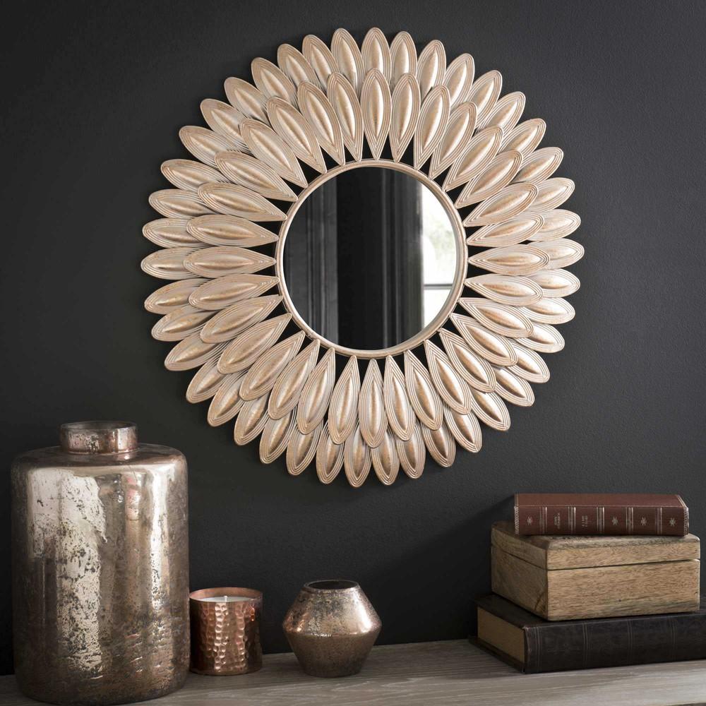 ronde spiegel in metaal d 51 cm swahili maisons du monde. Black Bedroom Furniture Sets. Home Design Ideas
