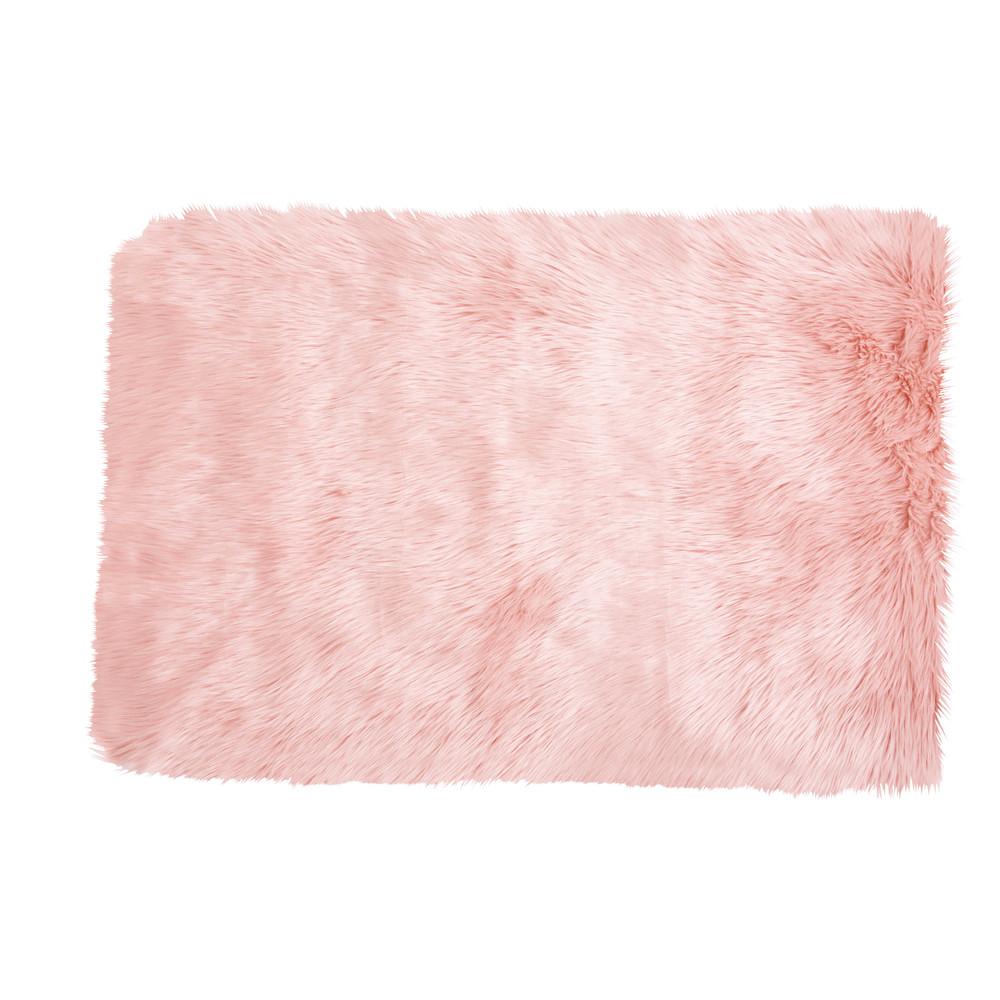 rosafarbener webpelzteppich 80 x 120 cm blush maisons du. Black Bedroom Furniture Sets. Home Design Ideas