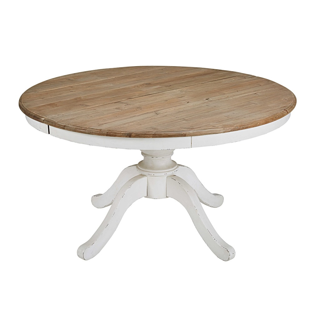 round extendable dining table l 140cm provence maisons