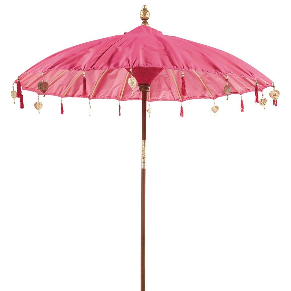 roze ubud parasol maisons du monde. Black Bedroom Furniture Sets. Home Design Ideas