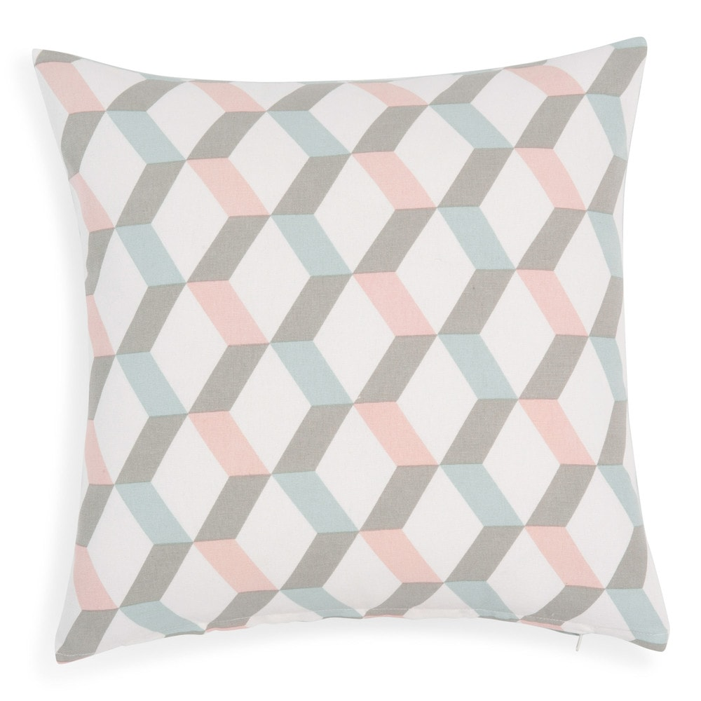 Ruben cotton cushion cover 40 x 40 cm maisons du monde - Maison du monde coussin de chaise ...
