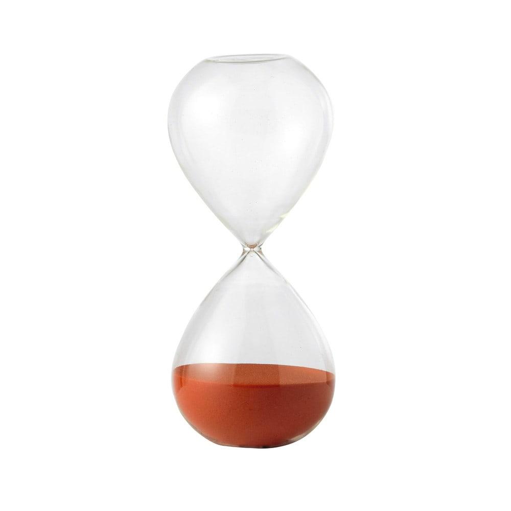 Sablier En Verre Orange H 25 Cm Pop Maisons Du Monde