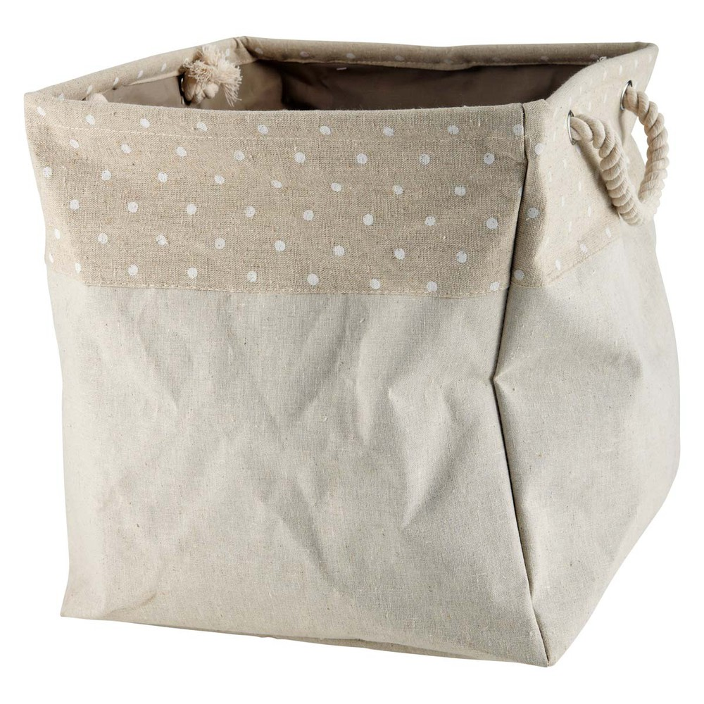 sac de rangement en tissu beige h 37 cm pastel maisons du monde. Black Bedroom Furniture Sets. Home Design Ideas