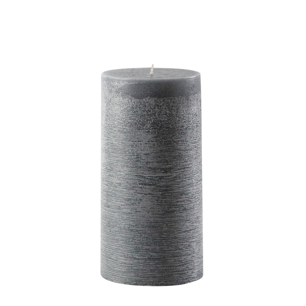 saint remy candle in charcoal grey h 23cm maisons du monde. Black Bedroom Furniture Sets. Home Design Ideas