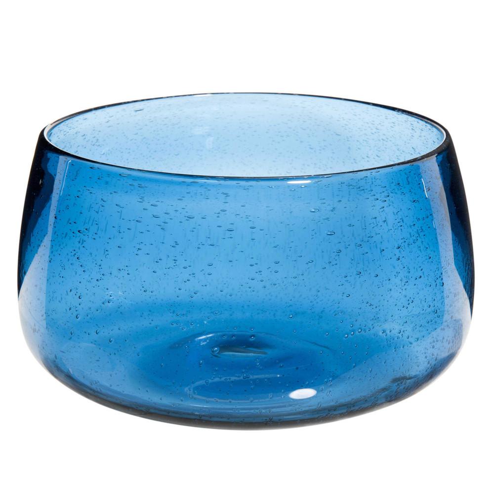 saladier en verre bull bleu maisons du monde. Black Bedroom Furniture Sets. Home Design Ideas