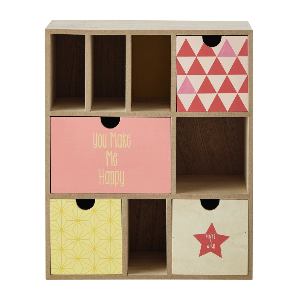 Scaffale 4 cassetti in legno h 32 cm l a maisons du monde - Maison du monde range cd ...