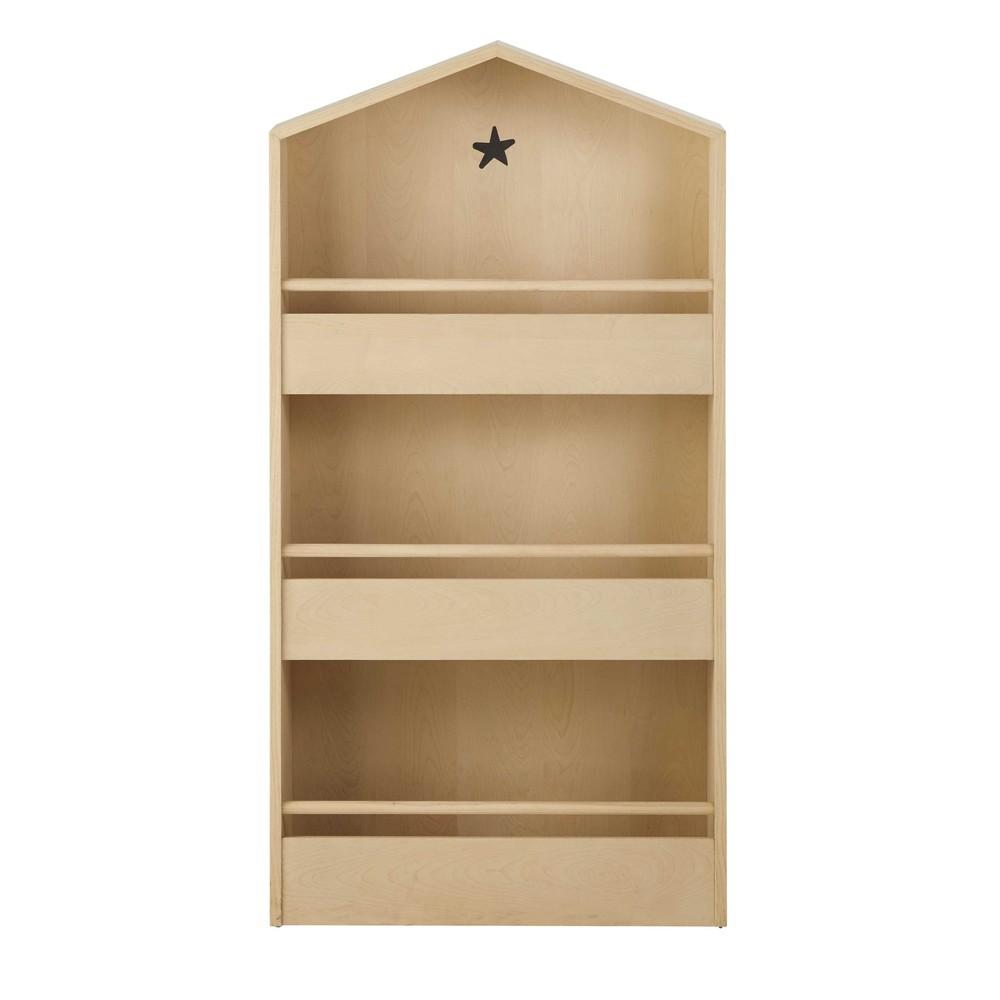 Scaffale a forma di casa in legno l 62 cm graphikids for Case a forma di u