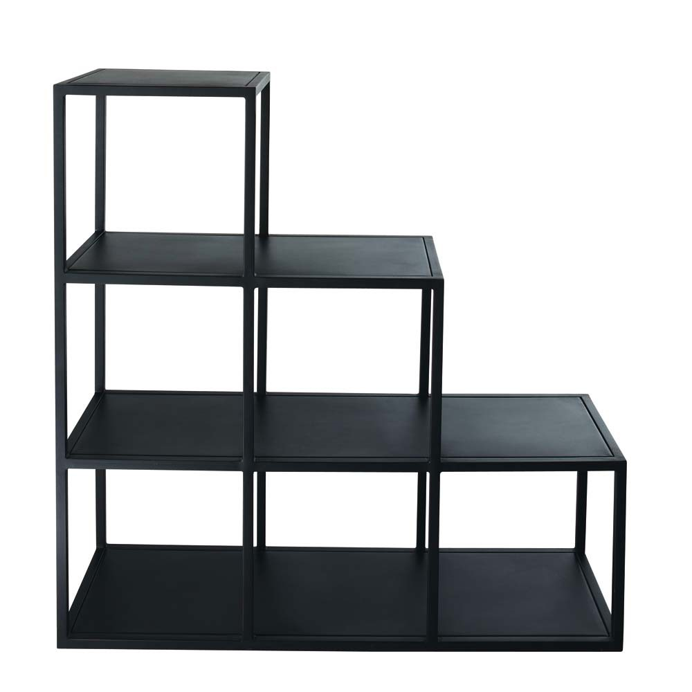 scaffale nero stile industriale in metallo l 105 cm edison. Black Bedroom Furniture Sets. Home Design Ideas