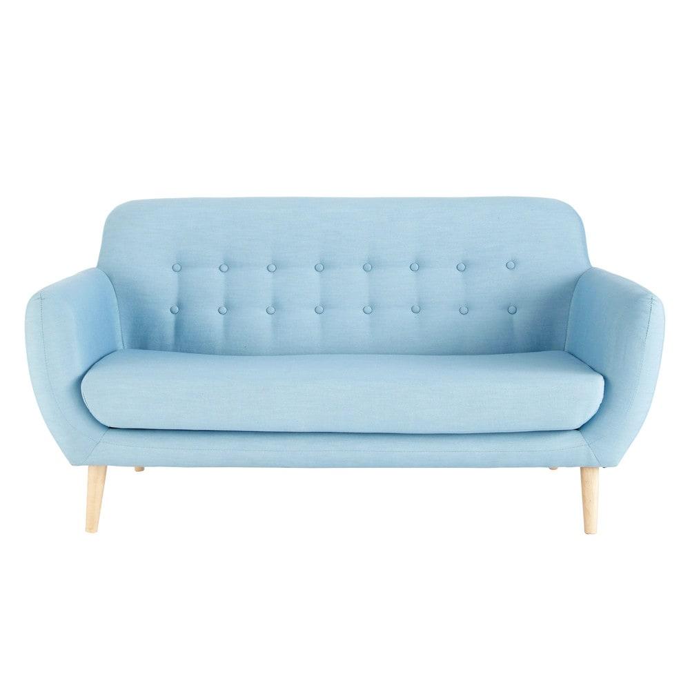 Scandinavian Blue Fabric 23 Seater Sofa Iceberg Maisons