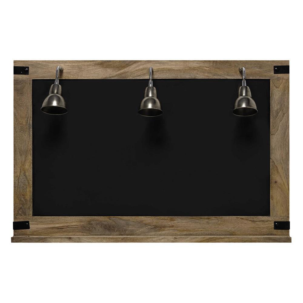 schiefertafel mit 3 wandleuchten factory 85 x 130 cm. Black Bedroom Furniture Sets. Home Design Ideas
