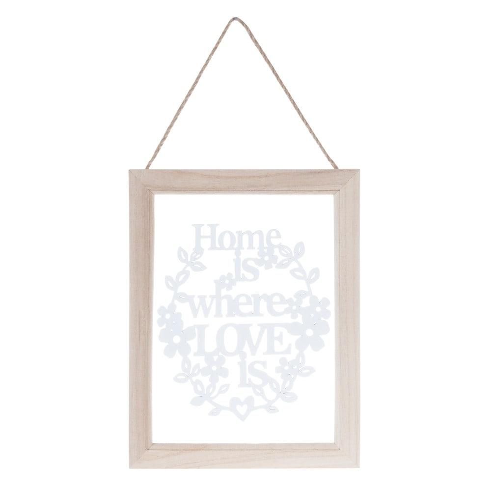 ... schilderijen › Schilderij met houten lijst, 18 x 24 cm, HOME IS LOVE