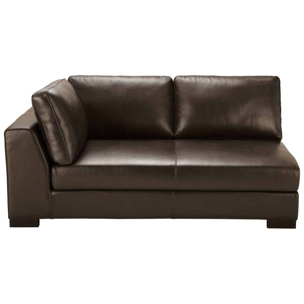schlafsofa armlehne links leder braun terence terence maisons du monde. Black Bedroom Furniture Sets. Home Design Ideas