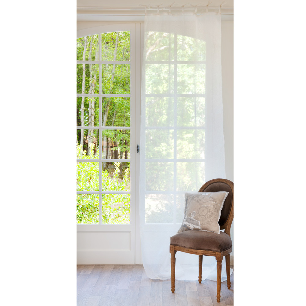 schlaufenvorhang aus leinen 105 x 300 cm ecru maisons. Black Bedroom Furniture Sets. Home Design Ideas