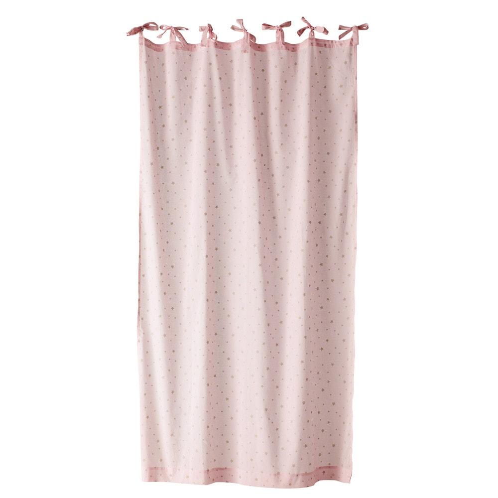 schlaufenvorhang toile aus baumwolle 102 x 250 cm rosa. Black Bedroom Furniture Sets. Home Design Ideas