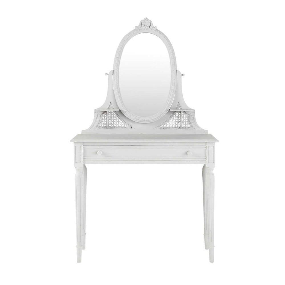 schminktisch aus mangoholz b 90 cm grau m dicis. Black Bedroom Furniture Sets. Home Design Ideas