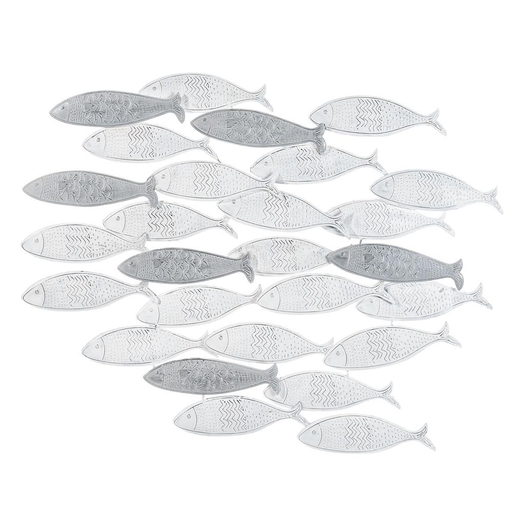 school vissen metalen wanddecoratie maisons du monde