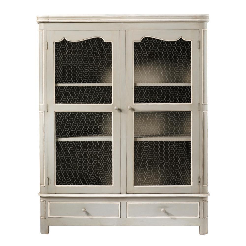 schrank aus mangoholz b 150 cm grau beaumanoir maisons du monde. Black Bedroom Furniture Sets. Home Design Ideas