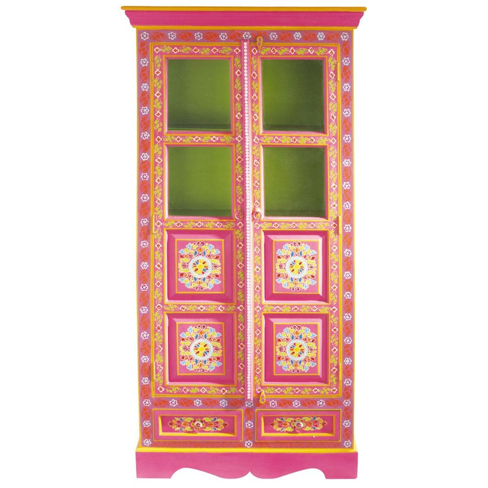 schrank aus mangoholz bunt b90 roulotte maisons du monde. Black Bedroom Furniture Sets. Home Design Ideas