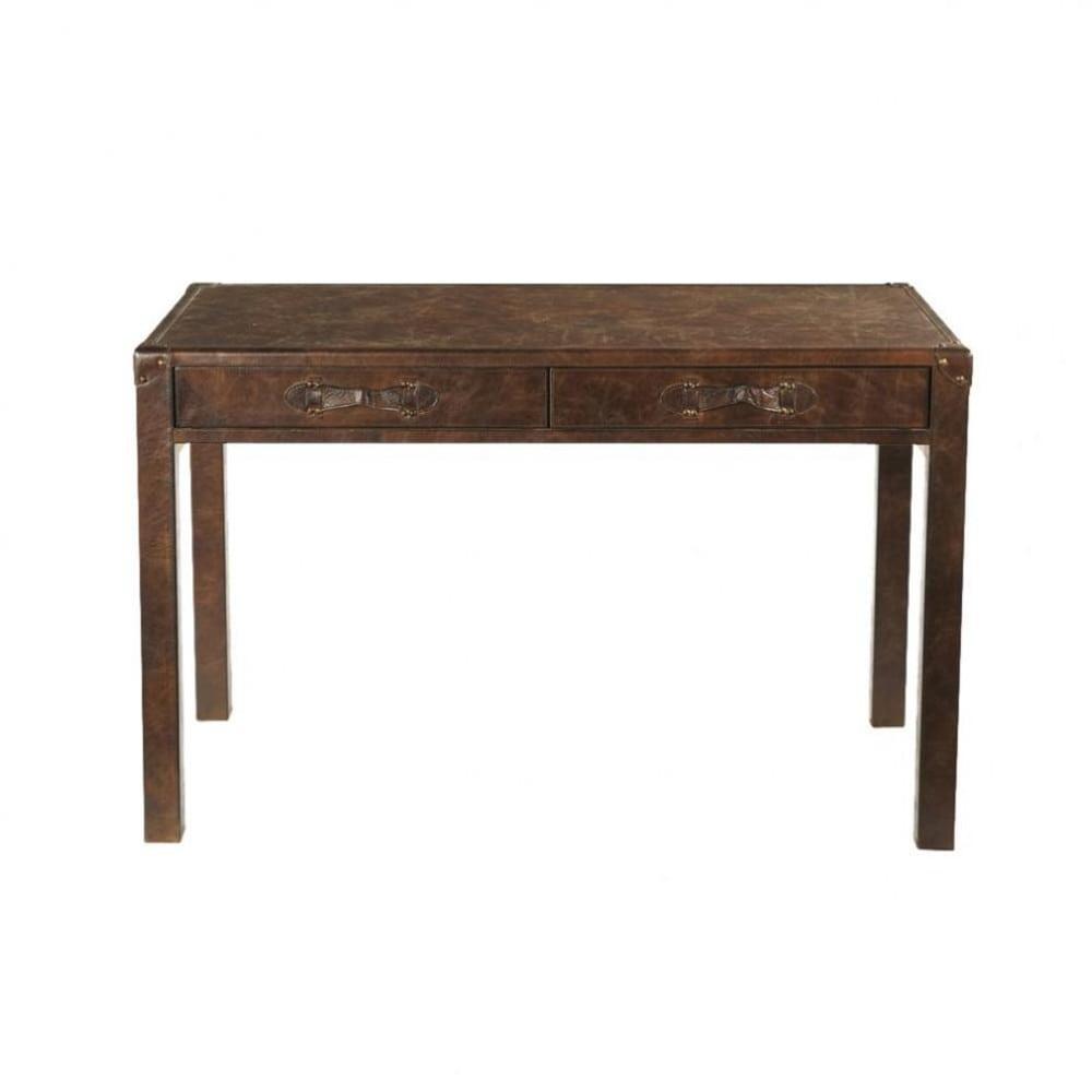 ... Schreibtisch Holz Groß ~ Schreibtisch Aus Leder Und Holz B Cm Jules  Verne