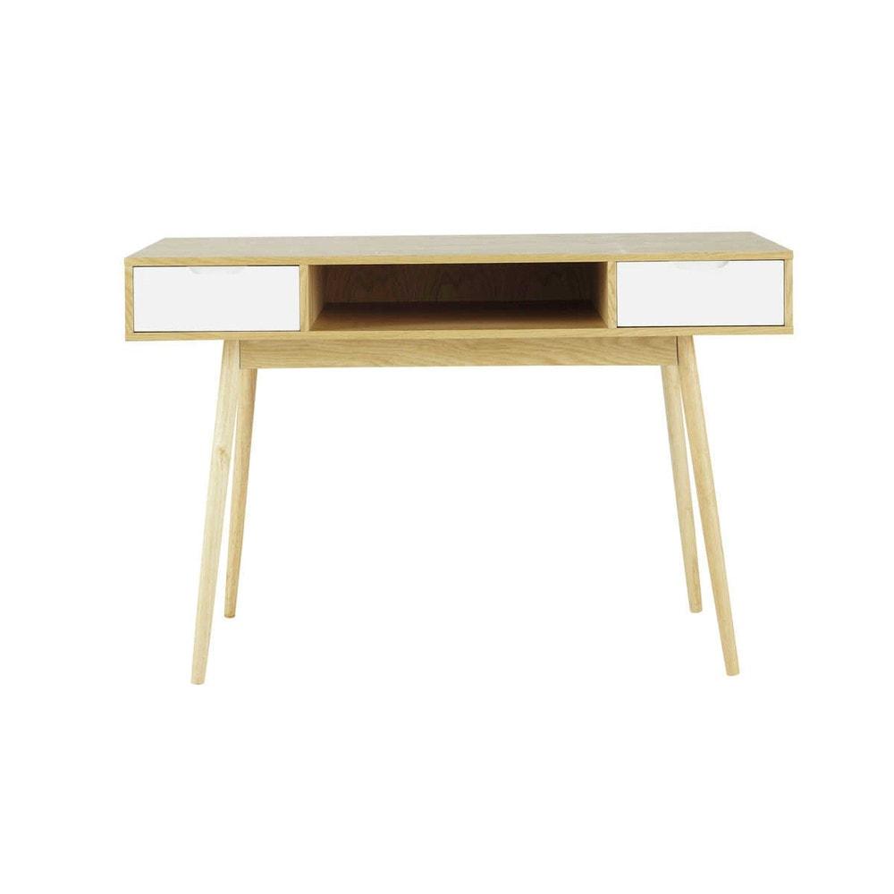 Schreibtisch Holz Cm : Schreibtisch im vintage stil aus holz b cm fjord