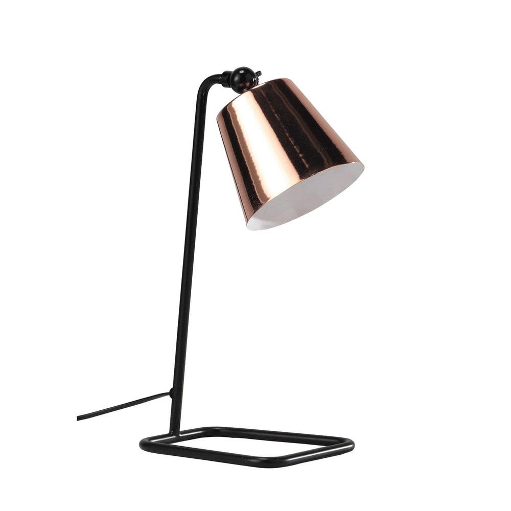 schreibtischlampe schwarz verstellbar aus verkupfertem. Black Bedroom Furniture Sets. Home Design Ideas