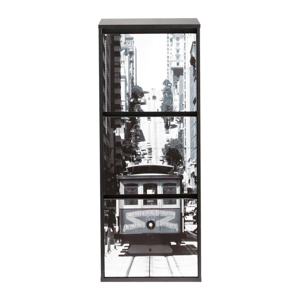 schuhschrank schwarz tramway tramway maisons du monde. Black Bedroom Furniture Sets. Home Design Ideas