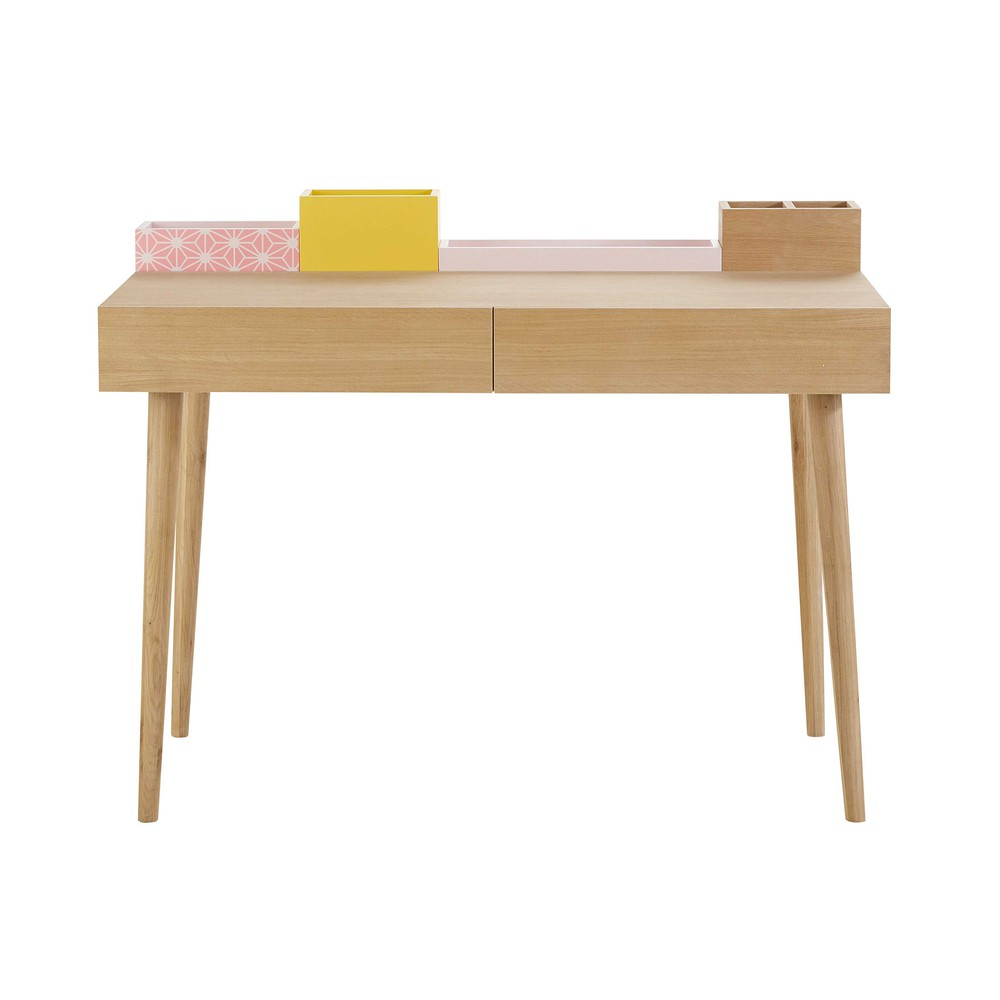 Scrivania in legno l 110 cm lea maisons du monde for Scrivania maison du monde