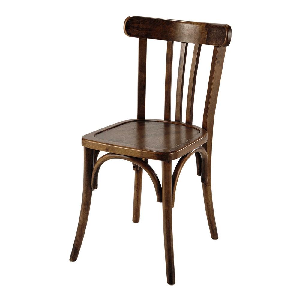 Sedia da bistrot marrone in legno troquet maisons du monde for Sedie imbottite maison du monde