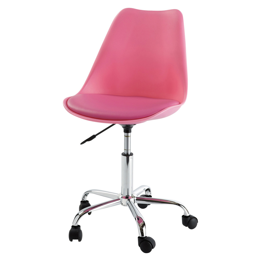 Sedia da scrivania rosa a rotelle bristol maisons du monde for Sedia rosa