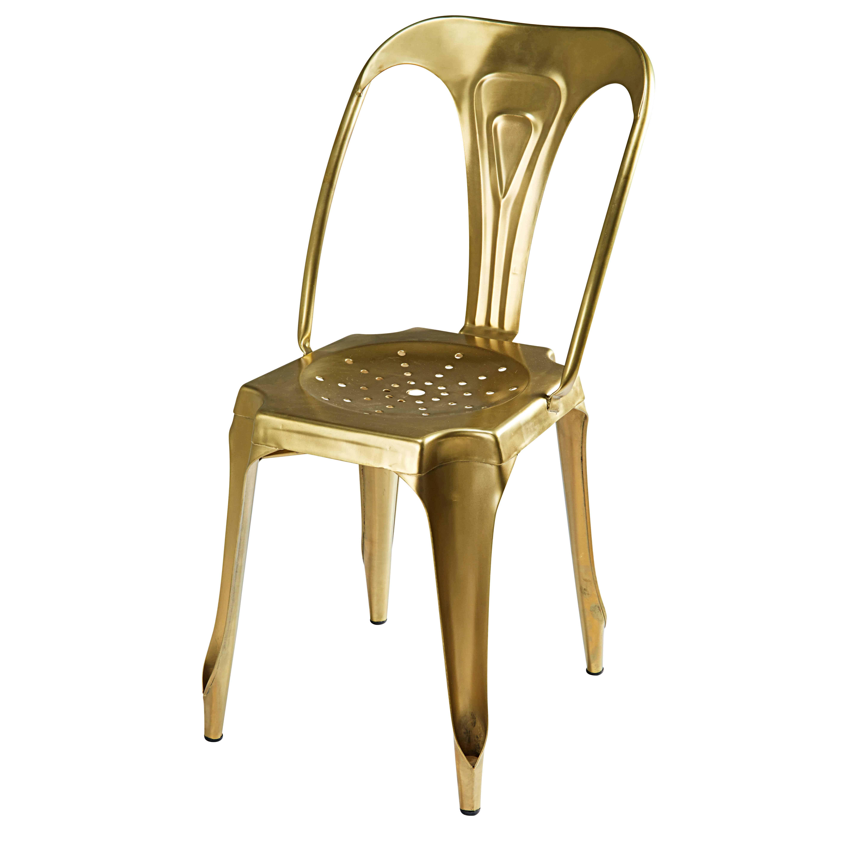 Sedia stile industriale in metallo dorato Multipl's ...