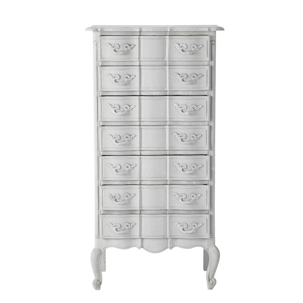semainier 7 tiroirs gris m dicis maisons du monde. Black Bedroom Furniture Sets. Home Design Ideas