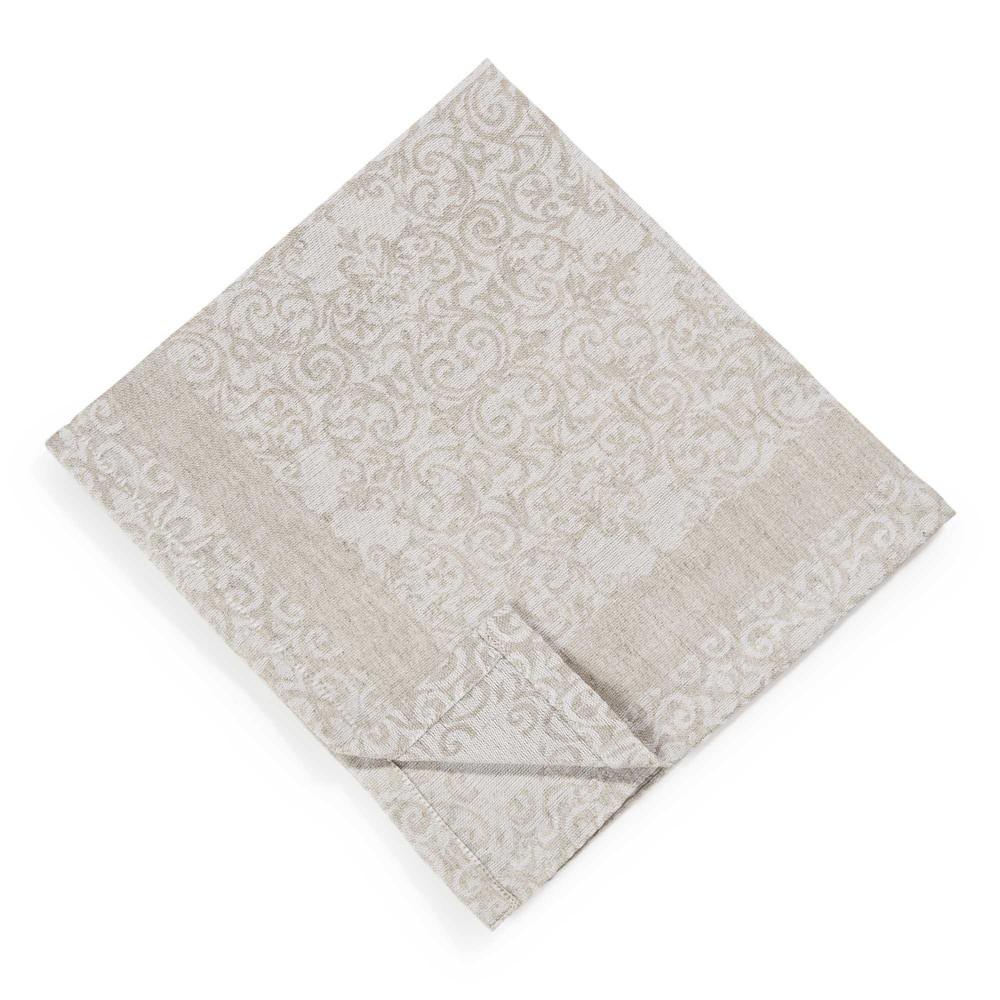serviette aus baumwolle und leinen ecru 45 x 45 cm lisbonne maisons du monde. Black Bedroom Furniture Sets. Home Design Ideas