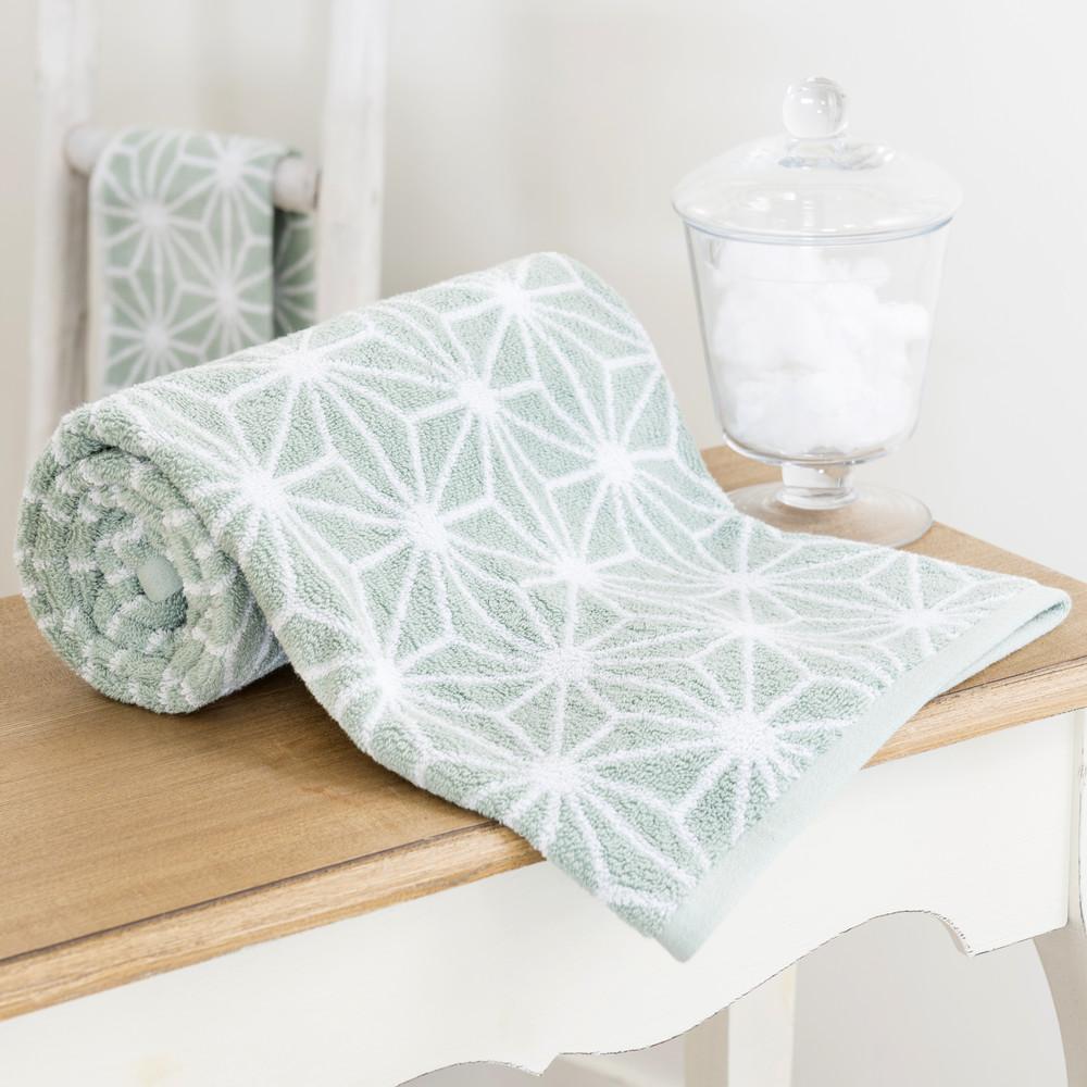 Serviette de bain en coton vert d 39 eau 100 x 150 cm nordic for Decoration vert d eau