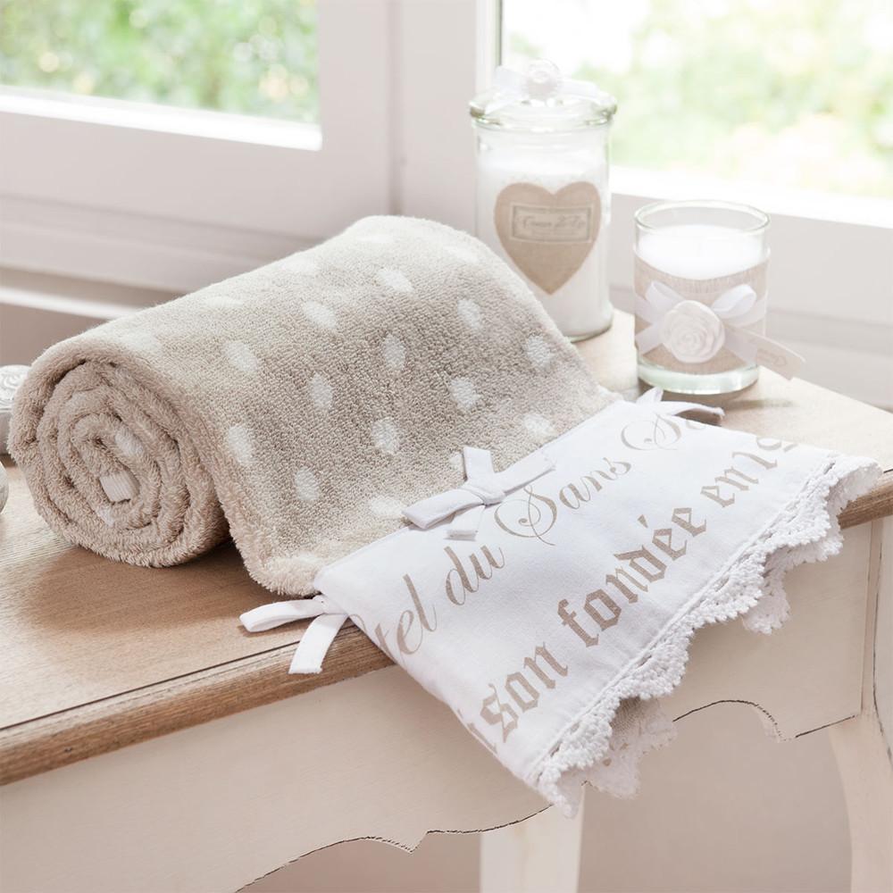 serviette de toilette en coton beige 30 x 50 cm sans souci. Black Bedroom Furniture Sets. Home Design Ideas