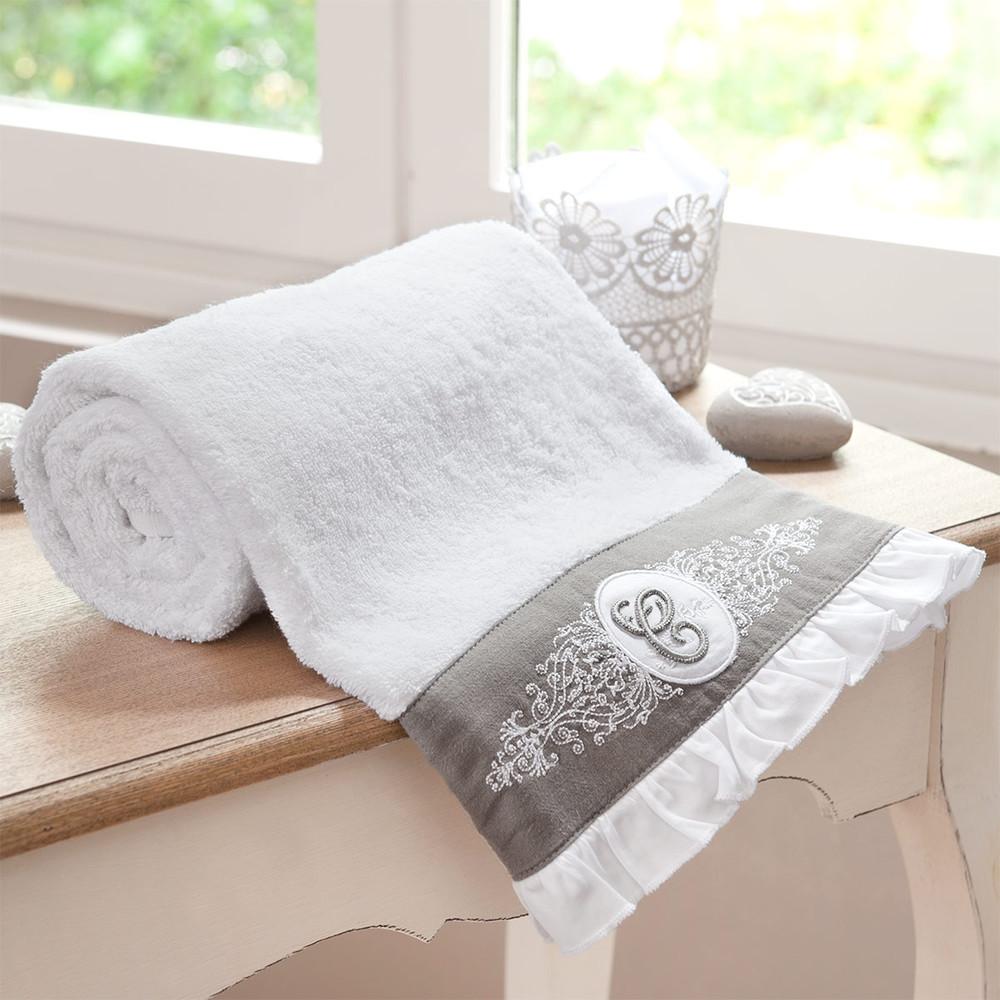 serviette de toilette en coton blanche 50 x 100 cm. Black Bedroom Furniture Sets. Home Design Ideas