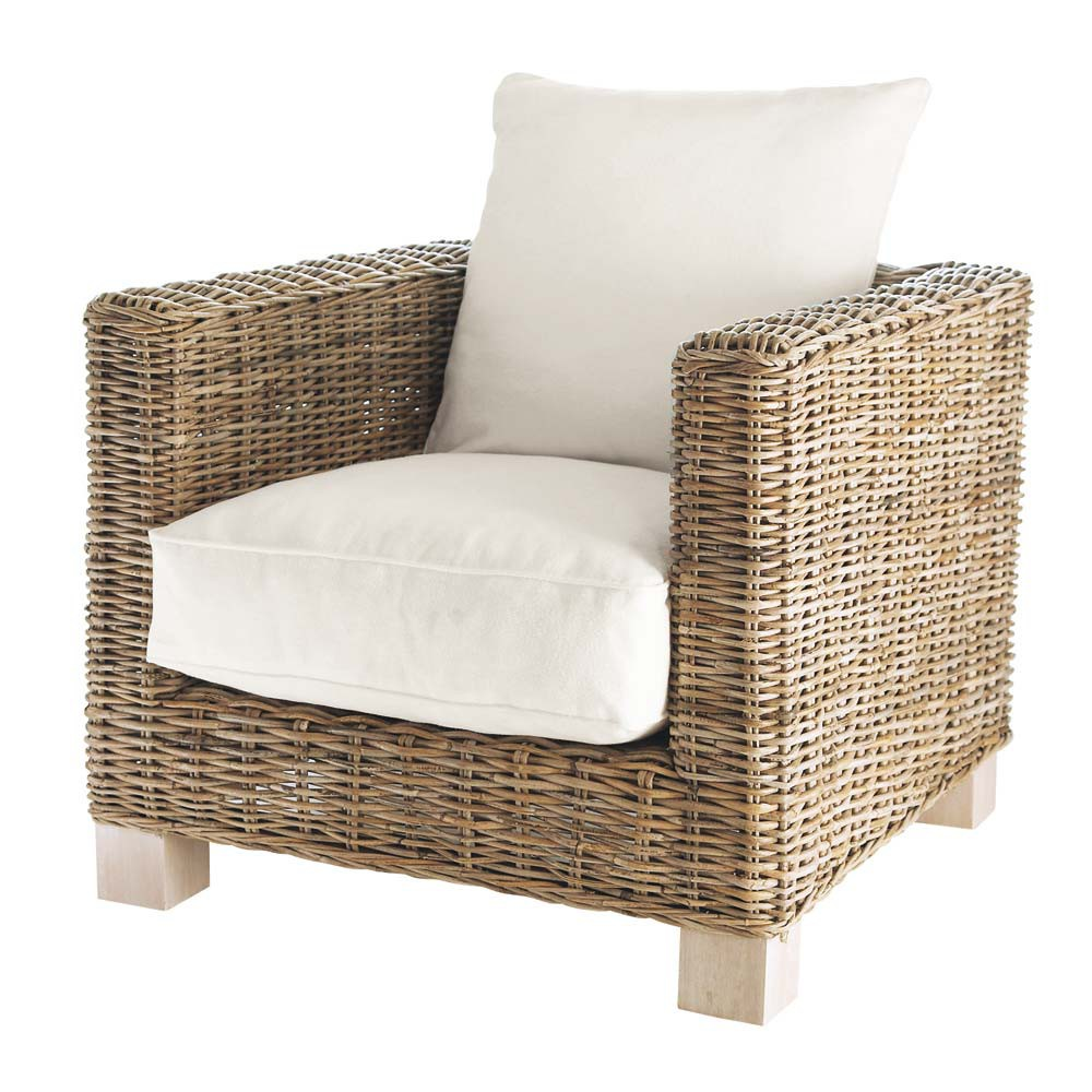 sessel aus kubu rattan key west key west maisons du monde. Black Bedroom Furniture Sets. Home Design Ideas