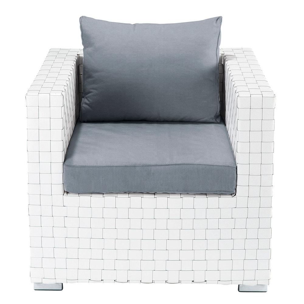 sessel wei square garden square garden maisons du monde. Black Bedroom Furniture Sets. Home Design Ideas