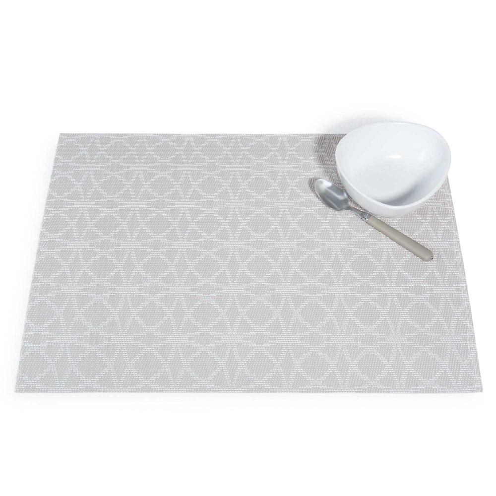 set de table beige blanc 30 x 45 cm abby maisons du monde. Black Bedroom Furniture Sets. Home Design Ideas
