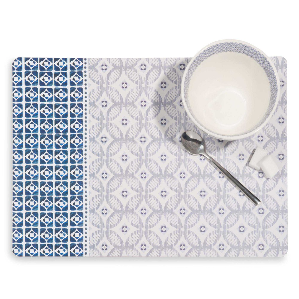 Set de table en li ge motifs carreaux de ciment escale for Sets de table rigides