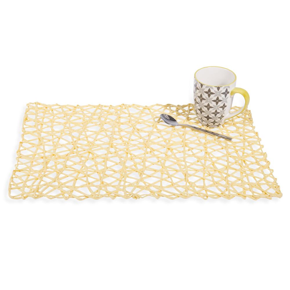 set de table en papier jaune 30 x 45 cm maisons du monde. Black Bedroom Furniture Sets. Home Design Ideas