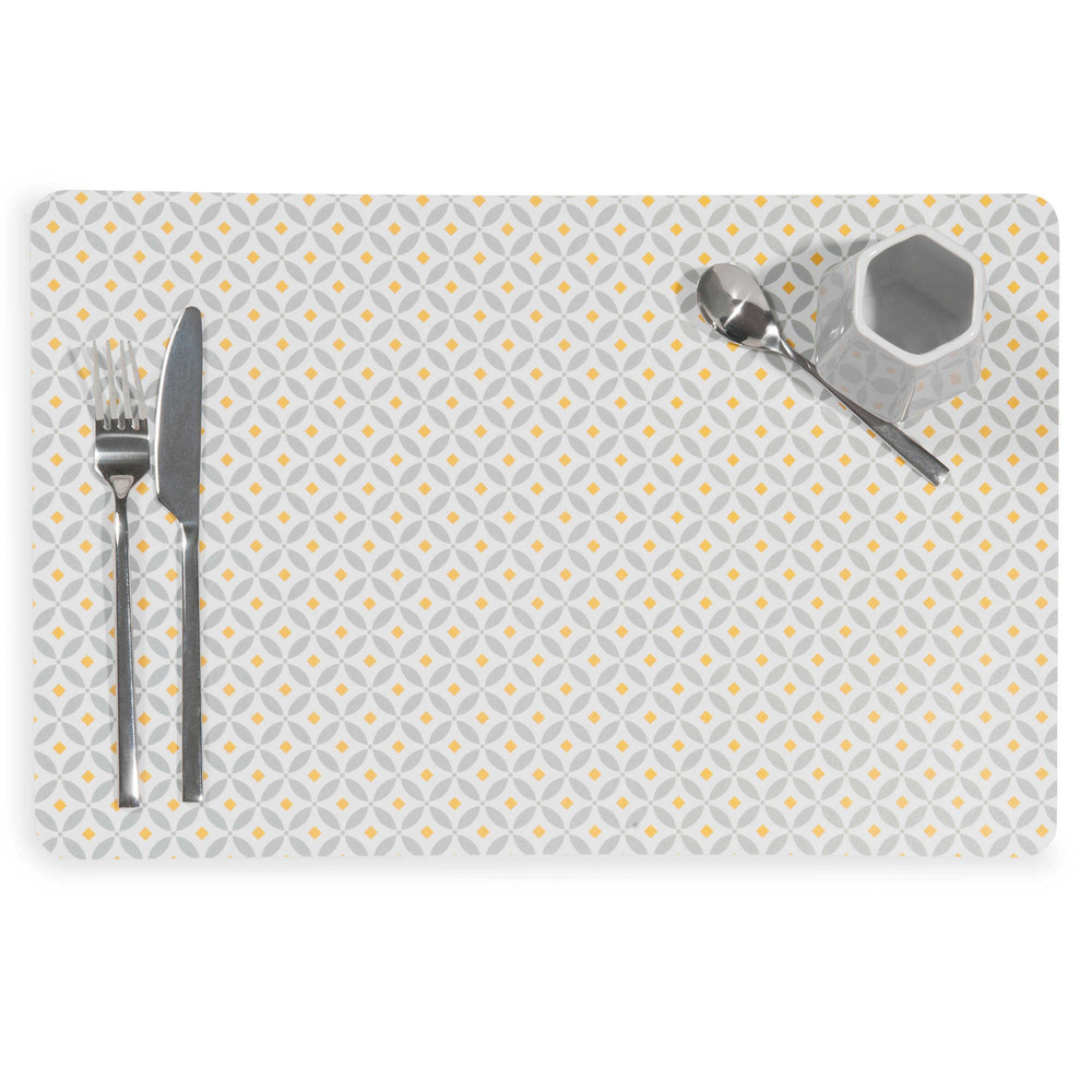 Set de table en plastique gris 28 x 43 cm graphic maisons du monde Set de table a personnaliser