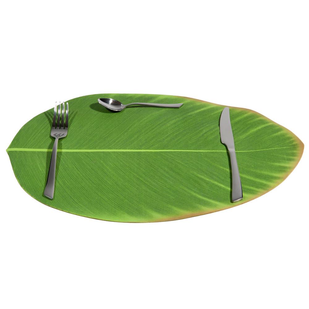 Set de table feuille verte 31 x 47 cm bananier maisons for Set de table maison du monde