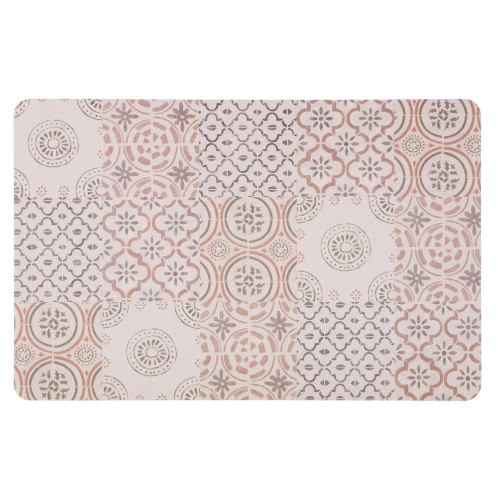 Set de table motifs carreaux de ciment maisons du monde for Tapis carreaux de ciment maison du monde