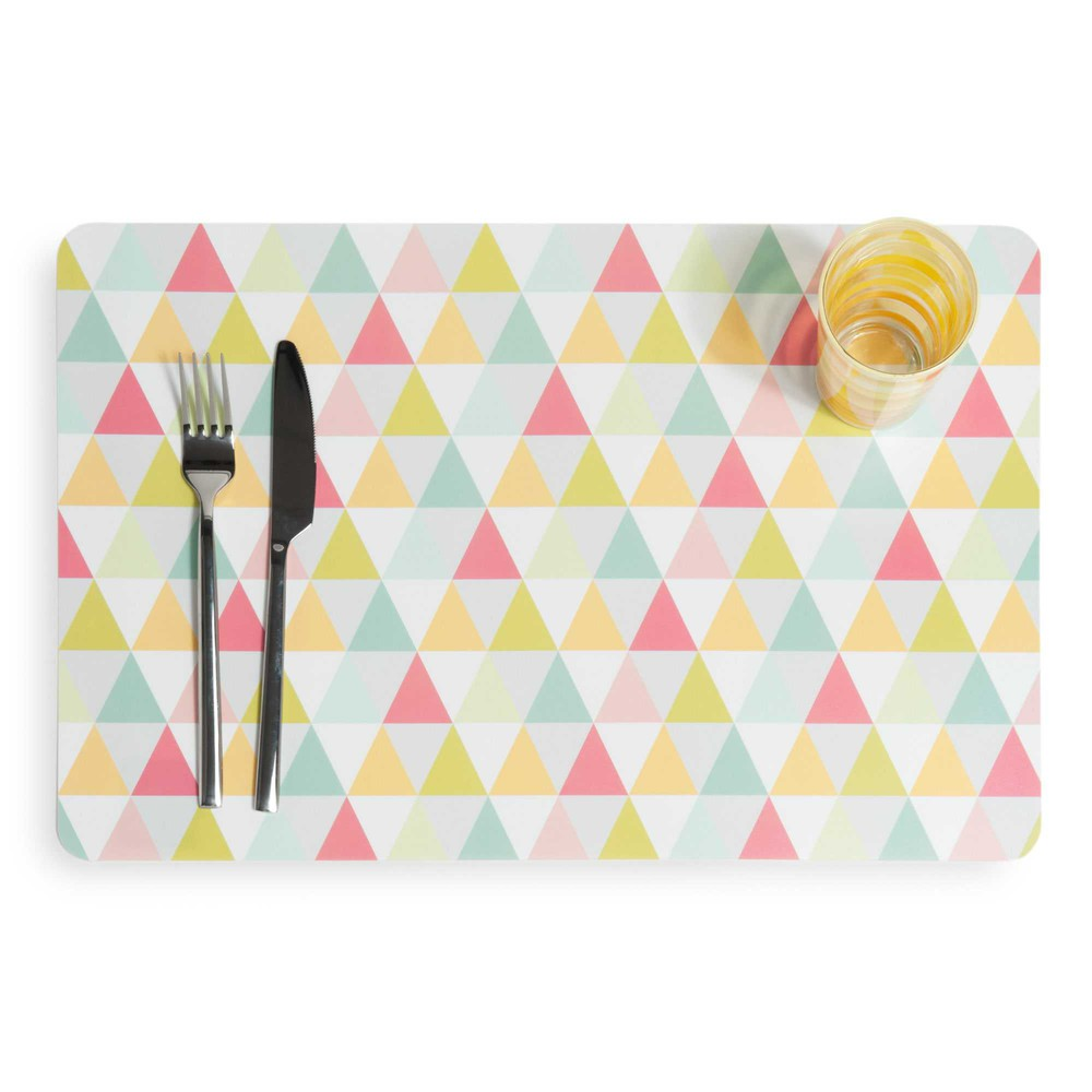 Set de table motifs triangle graphique maisons du monde - Set de table definition ...