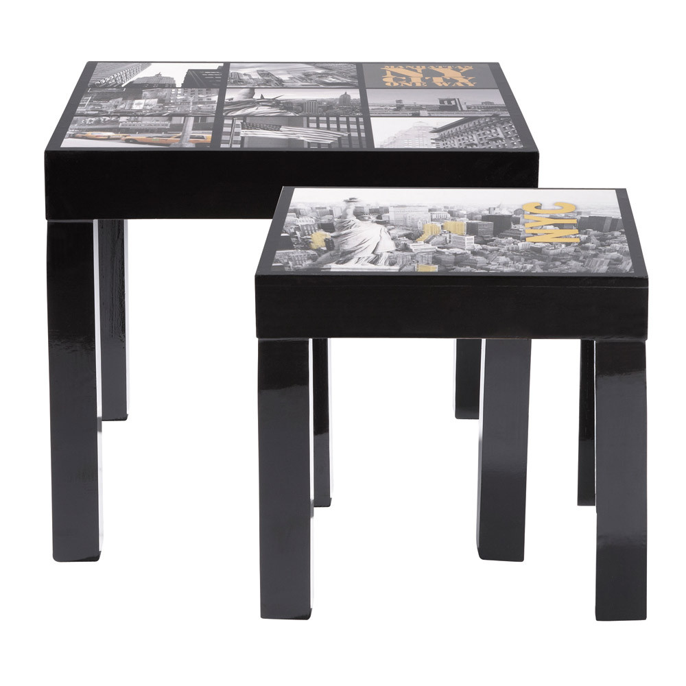 Set di 2 tavolini manhattan laccati maisons du monde - Maison du monde tavolini da salotto ...