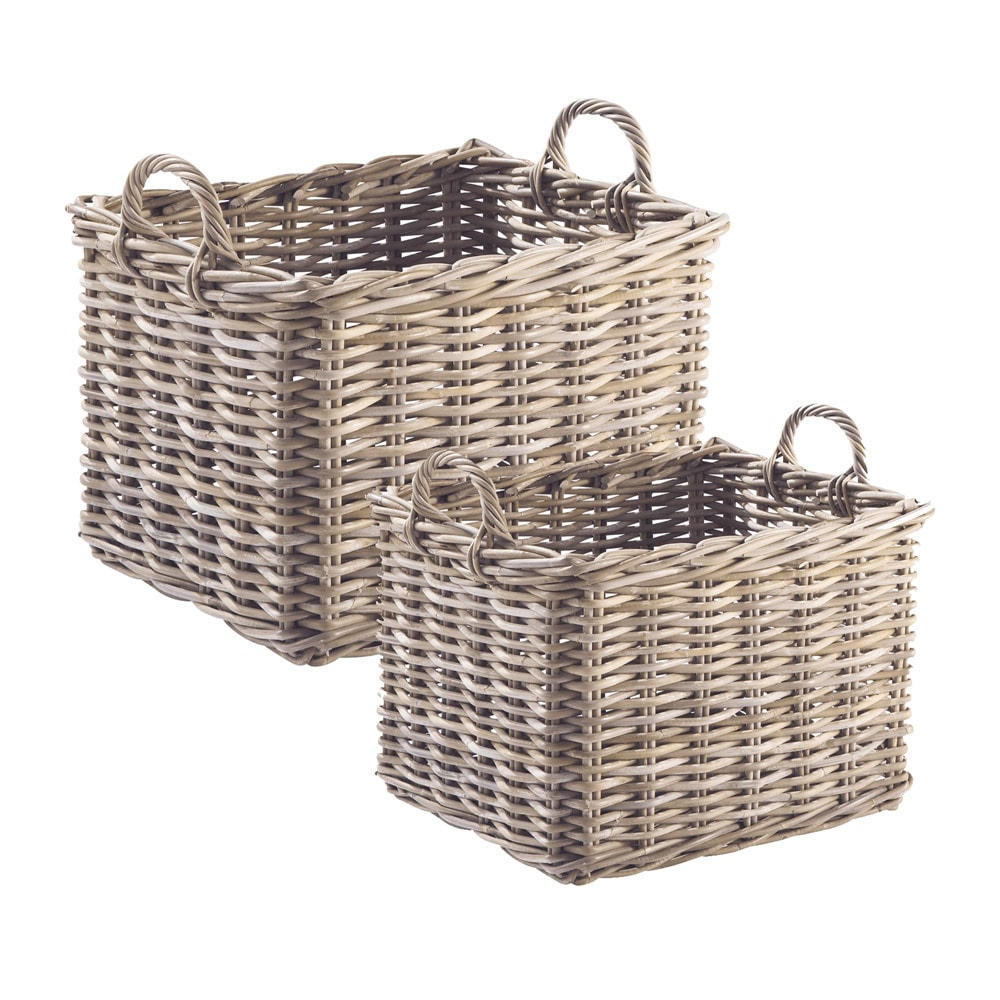 Set of 2 bali baskets maisons du monde for Maison de monde uk