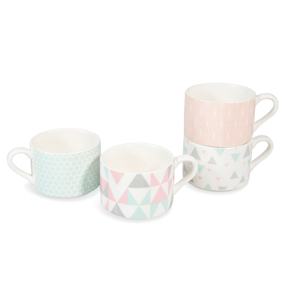 Set of 4 zoe earthenware coffee cups maisons du monde - Maison du monde mug ...